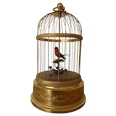 Reuge Music Bird Box Cage Automaton