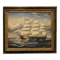 Early 20th Century Oil on Canvas Sailing Ship