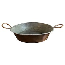 Antique Copper French Tarte Tatin Pan