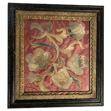 Early 1900 Silkwork of Flowers
