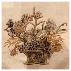 Late 19th Century Silkwork