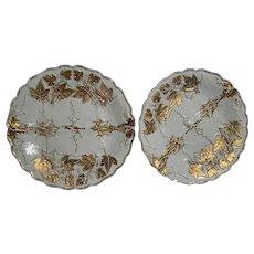 Pair of Meissen Porcelain Plates