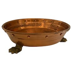 Arts and Crafts Copper Circular Plant / Jardiniere Stand