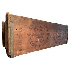 An early 20th century Irish wooden shipping crate for Butter'