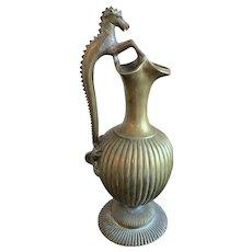 19th Century Bronze Seahorse Ewer