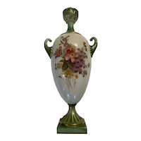 Early 20th Century Royal Worcester Twin Handled Vase