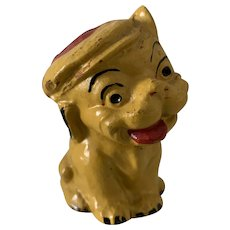 French 1920's Cold Painted Terracotta Fido Character Dog