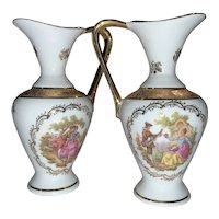 Limoges French Twin Trinket Pitchers