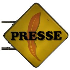 Vintage French Presse Sign