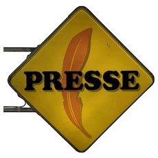 Vintage French Presse Sign