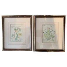 Original Coloured Printed Woodblock