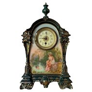 Late 19th Century French China Cased Mantle Clock