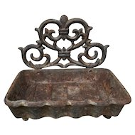 French 1920s Iron Soap Dish