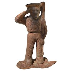 French Late 1800s Cast Iron Farmer
