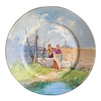 Vintage French Limoges Hand Painted Plate