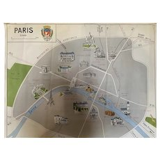 French 1950s School Poster Paris