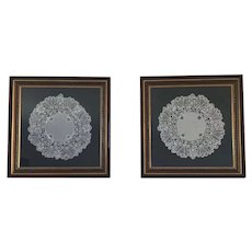 Two Framed Pieces of Branscombe Lace