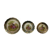 French Vintage Limoges China Mini Graduating Plates