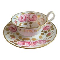 Copelands Spode Antique 1800s Tea Cup and Saucer
