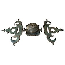 Very Large French 19th Century Door Furniture