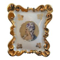 Antique French Limoges Porcelain Picture