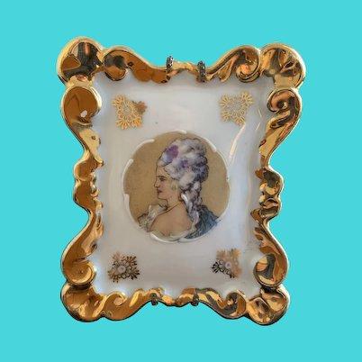 Antique French Limoges Porcelain Picture