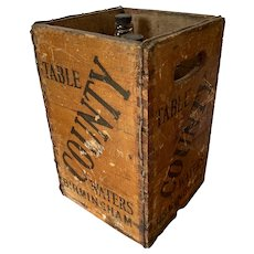 Vintage Wooden Birmingham Table Water Crate