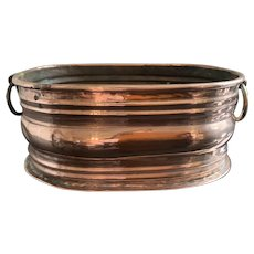 Vintage French Hammered Copper Jelly Mould