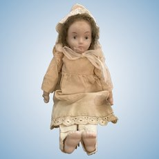 Early 1900s Bisque Headed Doll