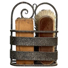 Antique French Shoe Cleaning Brushes