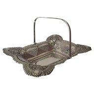 A Silver Rectangular Fruit or Cake Basket, Breakfast pastries basket