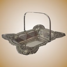 A Silver Rectangular Fruit or Cake Basket, Breakfast pastries basket