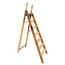 Antique Simplex Step Library Ladder