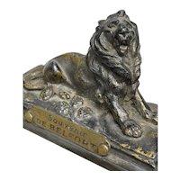 Antique Bronze Belfort Lion
