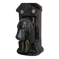 19th Century Cast Iron Spaniel Door Knocker