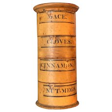 Antique Wooden Spice Canister