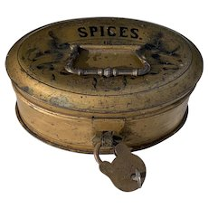 Early 19th Century Toleware Spice Tin