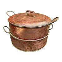 19th Century Enormous Copper Steamer Set