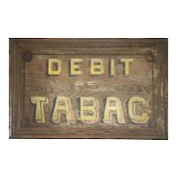 Early 20th Century French Tabac Sign