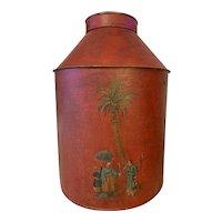 19th Century Tole-ware Tea Cannister