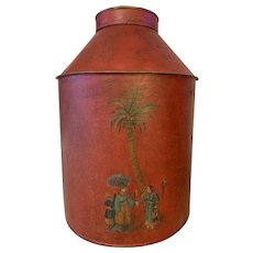 19th Century Tole-ware Tea Cannister