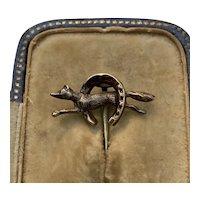 Late 19th Century Fox Hunting Tie Pin