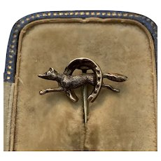 Late 19th Century Hunting Tie Pin