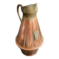 Vintage Copper Brass Palace Of Versailles Souvenir Miniature Jug Pitcher