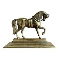 Victorian Brass Horse Door Stop