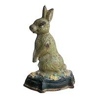 Victorian Cast Iron Rabbit Door Stop