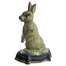 Victorian Cast Iron Rabbit Door Stop