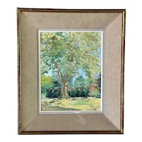 Vintage French Oil on Canvas