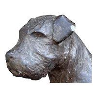 Vintage French Plaster Model Dog
