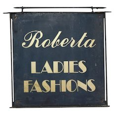 Vintage Metal Fashion Sign